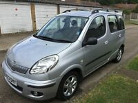 TOYOTA YARIS MPV, 1.3L, SILVER COLOUR, 44300, MOT, ONE FORMER LADY OWNER FROM NEW. £1850