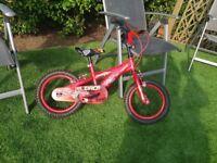 excellent condtion boys 14 inch disney cars bike