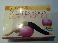 """""""Golden Earth"""" Pilates Yoga Exercise Ball Kit"""