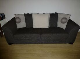 "Two Fabric sofas ""3 and 2 seats"""