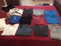 Size small + medium t shirts. Already washed + ironed.
