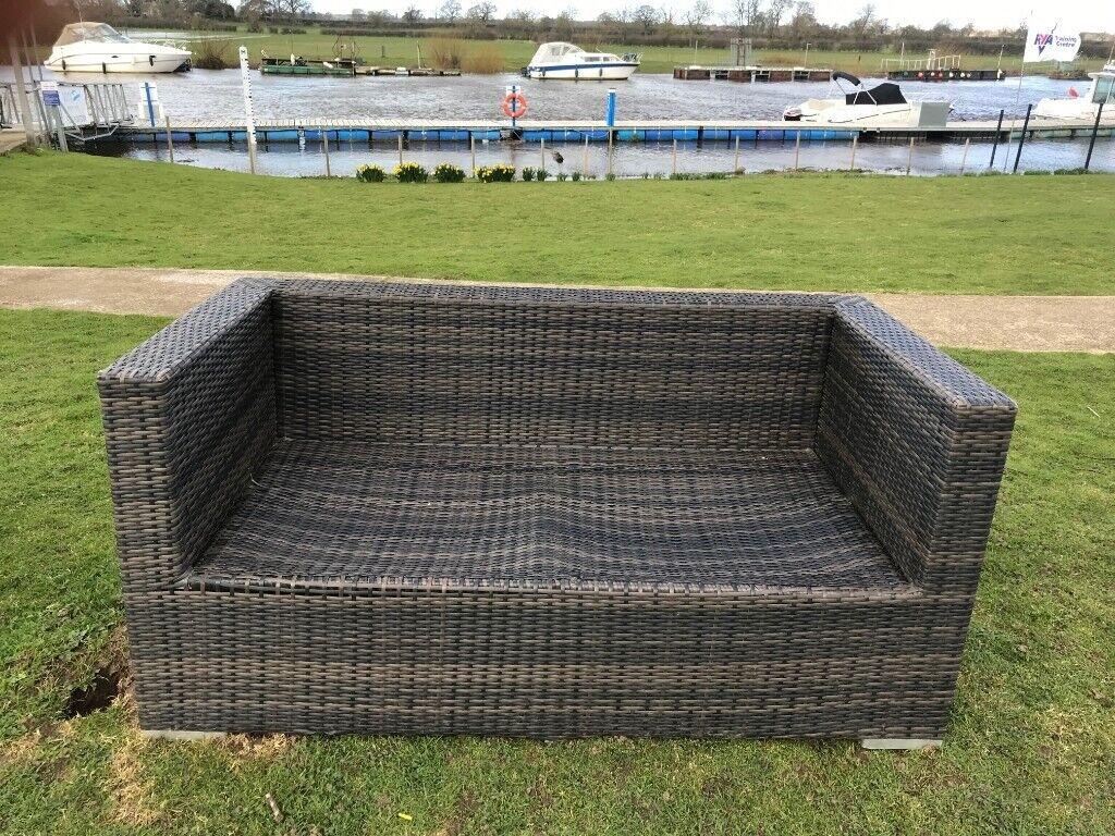 Nova rattan garden furniture double