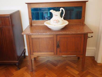 Antique Marble Top Wash Stand Chatswood West Willoughby Area Preview