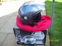 Motor cycle helmets.
