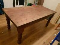Antique solid wood table Large