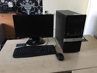 "Hp Pro 3015 Amd dual core 2.7 ghz 4gb ram 320gb hdd 19"" benq lcd windows 10 refurbished"
