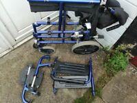 wheelchair . aluminium folding wheelchair good condition. lightweight.