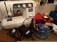 Brother sewing machine: VX1145 15 stitch + other sewing bits