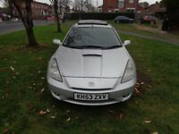 2004 Toyota Celica 1.8 VVT-i COUPE 3dr [LEATHER+SUNROOF+NEW MOT+ FSH+FREE WARRANTY]