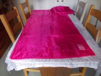 Ikea sheer deep pink curtains 10 foot x5ft as new