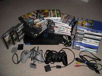 sony playstation 2 ps 2 ps bundle with games, controller, memory etc