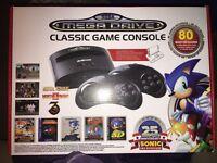 Sega megadrive with 80 games