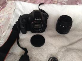 Cameras Sony AX 58 and fine pix