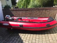 SeaSearch 420 dinghy + Yamaha 15hp 2 stroke