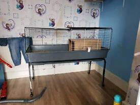 rabbit/ guinea pig cage with stand