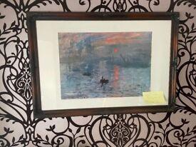 Claude Monet Print- In Stunning Ornate Handmade Frame-Impression Sunrise
