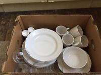 Dining set and glasses