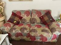 3 & 2 seater with ottoman