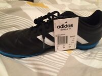 Adidas Goletto V TF astro turf trainers: ***BRAND NEW***Black/White/Solar Blue Size 7.5