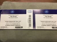2 x tickets for THE SCRIPT @ 02 Saturday 24th Feb