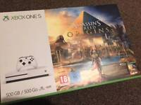 Xbox 1s 500GB with controller, headset and 4 games