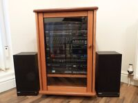 Phillips HiFi stereo music centre housed in a teak cabinet £150