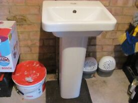 as new small basin and pedestal