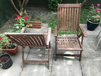 Wooden relaxing chairs x2