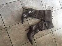 Never Worn Leather Boots - Size 5