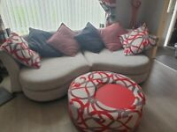3 piece suits and revolving coffee table/footstool