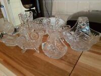 Crystal items nine pieces all good condition