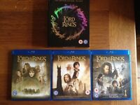 Lord of the Rings Blu Ray disc set