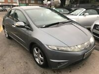 2006/06 HONDA CIVIC 1.8 i VTEC SE HATCHBACK 5DR,GREY,FULL LEATHER,GOOD ECONOMY,LOOKS +DRIVES WELL
