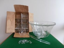 18 Piece Crystal Punch Bowl