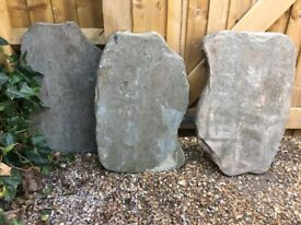 Slate paving slabs