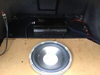800 watt amp and 1200 watt sub woofer