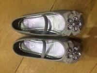 Sparkle sliver girls party shoes
