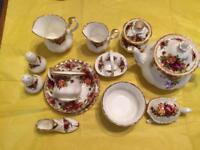 Royal Albert extensive collection offered