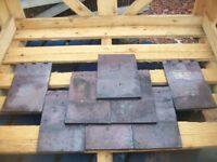 Reclaimed Roofing tiles Rosemarys Staffordshire blues Handmade and machine made ROOF SLATES