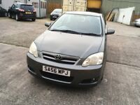 Toyota Corolla 1.4 grey 5 door mot until 2/10/18 one former keeper full service history