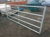 Pair of new 8ft galvanised field gate 16ft in total tractor