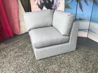 New Bouyant Modular Corner Sofa Section in Grey Texture Weave Fabric £165