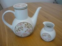 "Noritake Antigua ""Younger Image"" china coffee pot and milk jug"