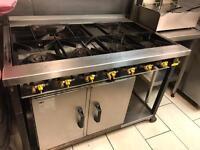 Commercial takeaway cooker 6 burner