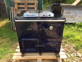 Rayburn GD80 Gas Cooker Oven Heating Hot Water Blue
