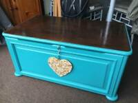 Large Wooden chest trunk box coffee table