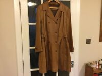 Ladies tan leather trench coat by John Rocha size 18-20