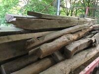 Various old oak beams from a barn. Solid and dry.