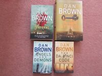 Dan Brown x 4 books in very good condition