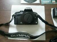 *REDUCED PRICE Digital SLR Olympus E 420 with14-42 lens + Extra Zuiko 40-150mm, case, and rucksack